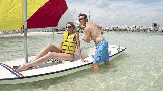 actividades acuáticas en resort de cancun