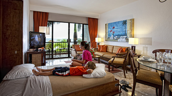 suite familiar en resort de Cancún