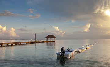 sunrise in Cancun resort