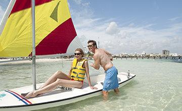 actividades acuáticas en resort de Cancún